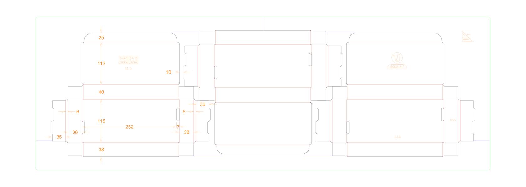 151 - Vouwdoosje 11 x 24,5 x 3,5 cm.pdf